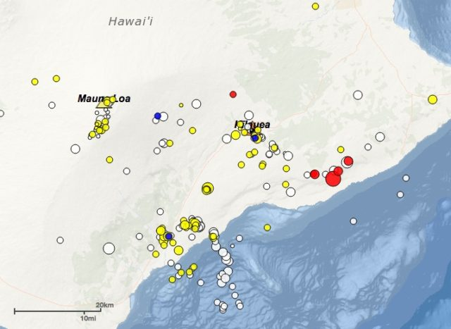 Earthquake with aftershocks