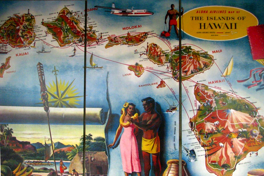 Aloha Airlines Wall Map