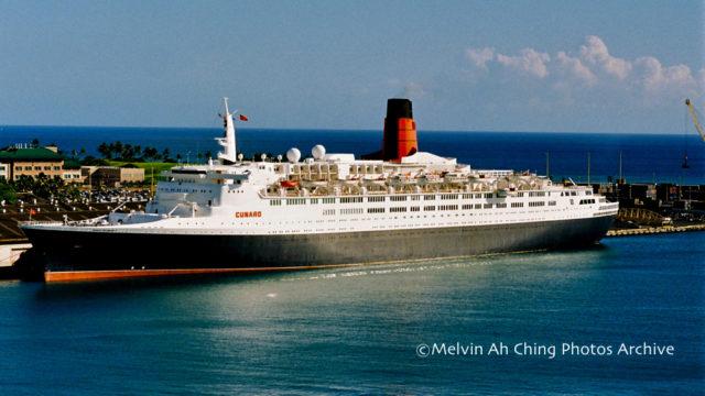 The ocean liner QE 2