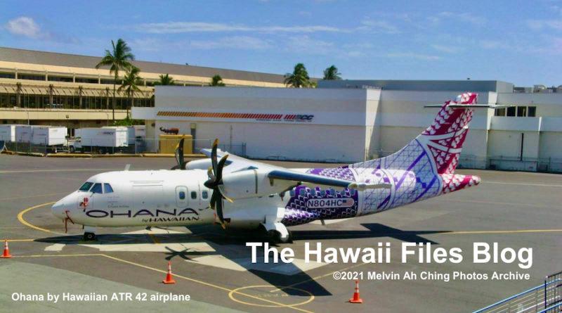 ohana by Hawaiian ATR 42 plane