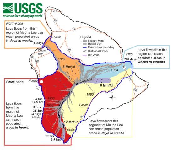 Mauna Loa Threat Map