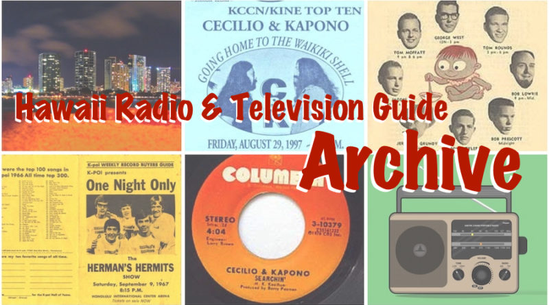 Hawaii Radio & Television Guide Archive