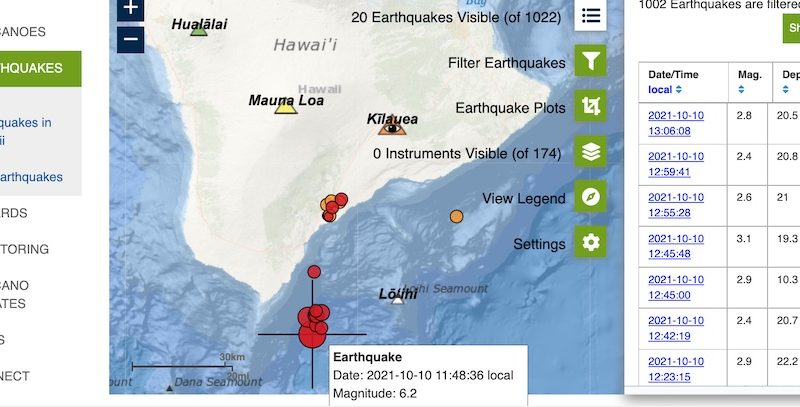6.2 EQ and Aftershocks